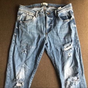 Zara Man distressed skinny jeans. Size 34.